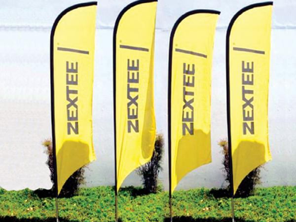 Four Concave Banshee - Outdoor Banner Stands