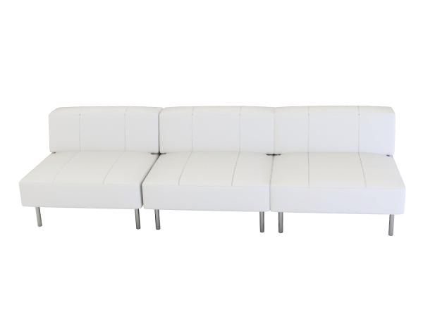 Endless Square Low Back Sofa --- Trade Show Rental Furniture