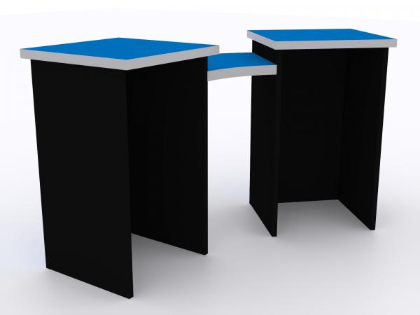 DI-660 Trade Show Pedestal -- Folding Fabric Panels -- Large Graphics (velcro-attached)