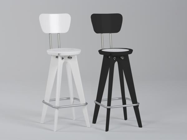 Chairs with Seatback Option -- Add $284 per Chair (white and black only)