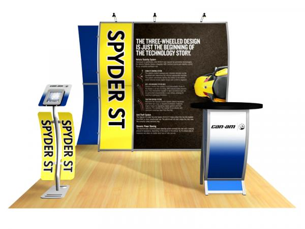 Perfect 10 Portable Hybrid Trade Show Display -- Image 2