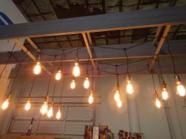 String Lights with Edison Bulb Fixtures