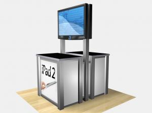 RET-1233  /  Double-Sided Rectangular Counter Kiosk